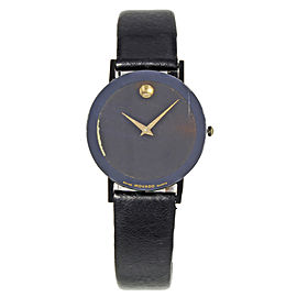 Movado Museum Ultra-Thin Steel Black PVD Quartz Ladies Watch 8740882