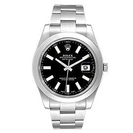 Rolex Datejust II 41mm Black Dial Oyster Bracelet Steel Mens Watch 116300
