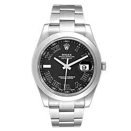 Rolex Datejust II 41mm Grey Dial Oyster Bracelet Steel Mens Watch 116300