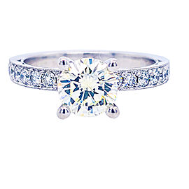 Tacori 18k White Gold Diamonds Ring