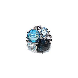 Sterling Silver Swiss Blue Topaz, London Blue Topaz, Sky Blue Topaz, Amethyst Ring