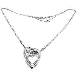 Cartier Pendant 0.25ctw Diamond Heart 18K White Gold with Chain