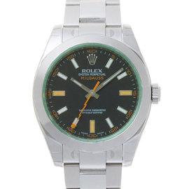 Rolex Milgauss 116400 Green Crystal Black Dial Watch