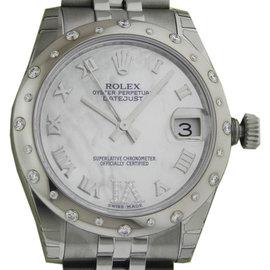 Rolex Datejust 178344 Mother of Pearl Diamond Bezel Jubilee Watch