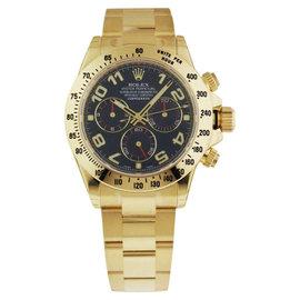 Rolex Daytona 116528 Yellow Gold Blue Arabic Dial Watch