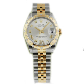 Rolex Datejust 178343 Stainless Steel Yellow Gold Diamond 31mm Watch