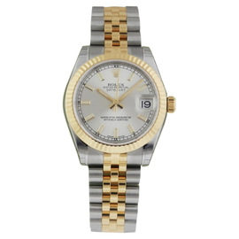 Rolex 178273 Datejust 31mm Stainless Steel 18K Gold Silver Jubilee Watch
