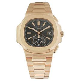 Nautilus Black Dial 18kt Rose Gold Chronograph Automatic Men's Watch