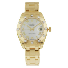 Rolex Datejust 81318 Masterpiece Automatic 18K Yellow Gold Womens Watch