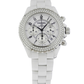 Chanel J12 H1008 White Ceramic Diamond 41mm Watch
