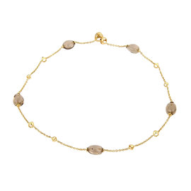 Di Modolo 18K Yellow Gold with Smokey Quartz Oval Beads Necklace