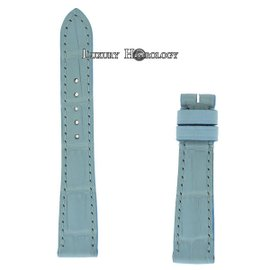 New Authentic Roger Dubuis Much More M22 14mm Short Light Blue Crocodile Strap