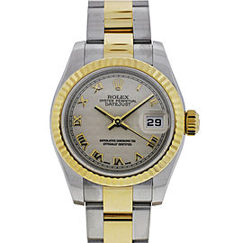 Rolex Datejust 179173 G Pyramid 26mm Two Tone Watch