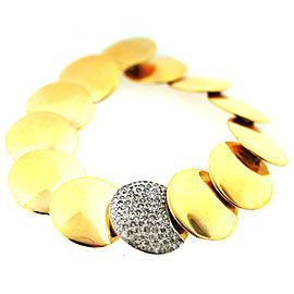Tiffany & Co. 18K Yellow Gold Diamond Circle Flat Bead Bracelet