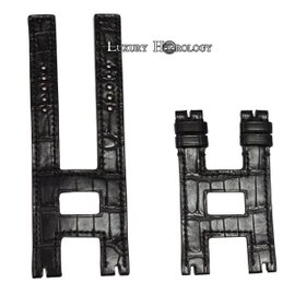 New Authentic Roger Dubuis Follow Me F17 41mm Long Black Crocodile Strap