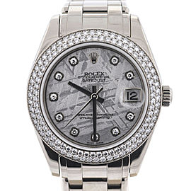 Rolex 81339 Pearlmaster Masterpiece 34mm White Gold Meteorite Diamond Watch