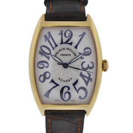 Franck Muller 2852 SC 18K Rose Gold Sunset Automatic Leather Watch