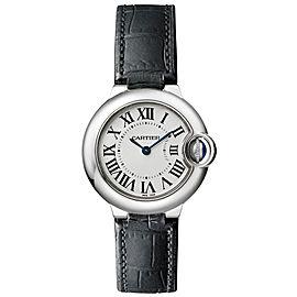 Cartier Ballon Bleu 28mm w69018z4 Stainless Steel Quartz Leather Watch