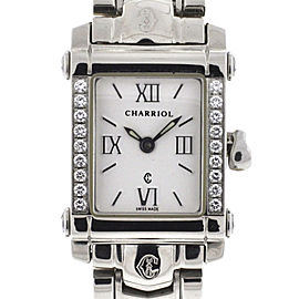 Philippe Charriol Columbus Stainless Steel Diamond Bezel Ladies Watch