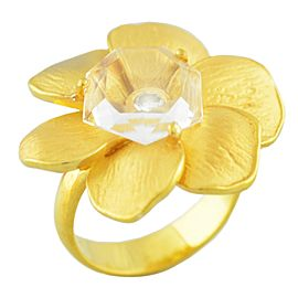 Carrera y Carrera 18K Yellow Gold Diamond Flower Ring