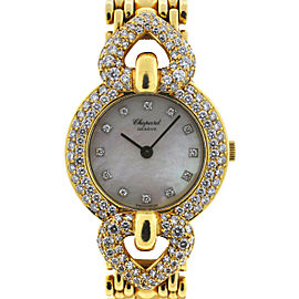 Chopard 18K Yellow Gold Diamond MOP Ladies Quartz Watch