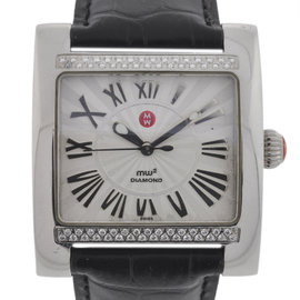 Michele MW2 MW07C01 Diamond Ladies Stainless Steel Watch