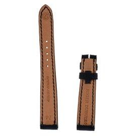 New Authentic Roger Dubuis Sympathie S27 14mm Short Shiny Black Crocodile Strap