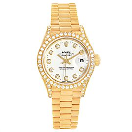 Rolex President Datejust 18K Yellow Gold Diamond Watch 79188