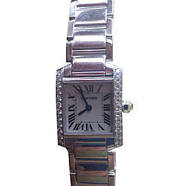 Cartier Tank Francaise 2403 White Gold & Diamond 26mm Watch