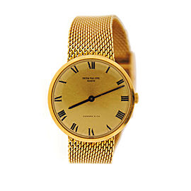 Patek Philippe 3562 Calatrava Tiffany & Co Dial 18K Yellow Gold Watch