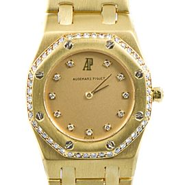 Audemars Piguet Royal Oak 18Kt Yellow Gold Quartz Womens Watch