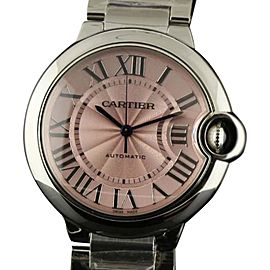 Cartier W6920041 CA16 Ballon Bleu 36mm Pink Steel Automatic Womens Watch