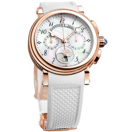 Breguet Marine 8827br/52/586 Chronograph 18K Rose Gold Ladies Watch