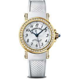 Breguet Marine 18K Yellow Gold Diamond 8818BA/59/564 DD00 Ladies Watch