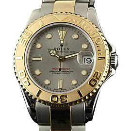 Rolex Yacht-Master 168623 Steel Gold Grey 35mm Watch 1999