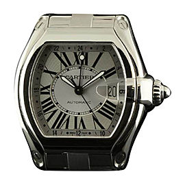 Cartier Roadster GMT XL W62032X6 Steel Silver Automatic Watch
