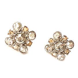 Chanel Argyle Rhinestone Crystal Piercing Earrings