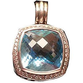 David Yurman Albion Blue Topaz and Pave Diamond Enhancer Pendant