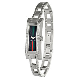 Gucci YA110513 G-Link Diamond Stainless Steel Womens Watch