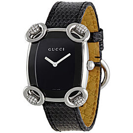 Gucci YA117505 Horsebit Diamond Stainless Steel Womens Watch