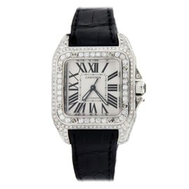 Cartier Santos 100 W20106X8 5.57ct Diamond Watch