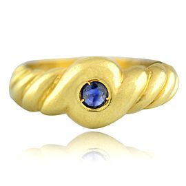 Yellow Gold Sapphire Mens Ring Size 7.5