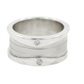 White White Gold Diamond Mens Ring Size 6