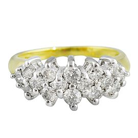 Yellow Gold Diamond Mens Ring Size 6.25