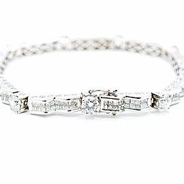 "Diamond Bracelet In 14K White Gold Approximately 10.69 CT 22.9 Grams 7"""