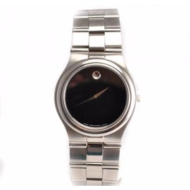 Movado 84.G2.883 Stainless Steel Black Dial Quartz Mens Watch