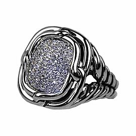 David Yurman Sterling Silver Labyrinth Diamond 0.752 Ctw Ring