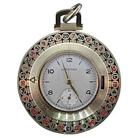 Longines 18K Yellow Gold & Enamel Watch Pendant