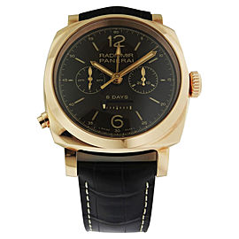 Panerai Radiomir PAM 502 8 days GMT Oro Ros 1940 Chrono Monopulsante Mens Watch