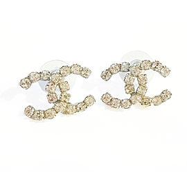 Chanel CC Rocky Super Shiny Rhinestone Piercing Earrings
